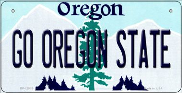 Go Oregon State Novelty Metal Bicycle Plate BP-12985