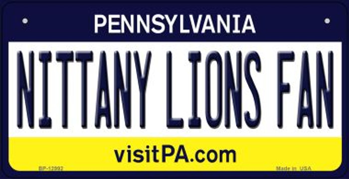 Nittany Lions Fan Novelty Metal Bicycle Plate BP-12992
