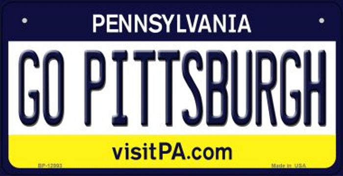 Go Pittsburgh Novelty Metal Bicycle Plate BP-12993