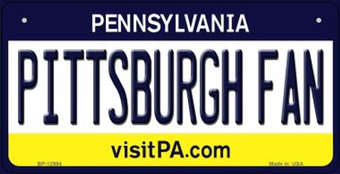 Pittsburgh Fan Novelty Metal Bicycle Plate BP-12994