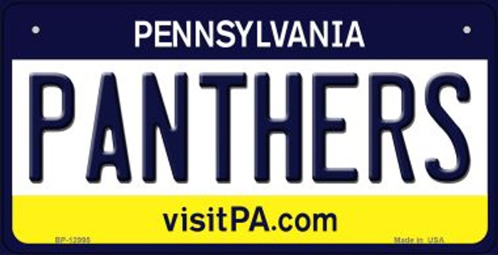 Panthers Novelty Metal Bicycle Plate BP-12995