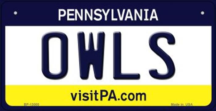 Owls Novelty Metal Bicycle Plate BP-13000