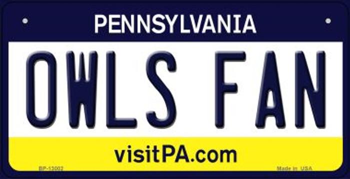 Owls Fan Novelty Metal Bicycle Plate BP-13002