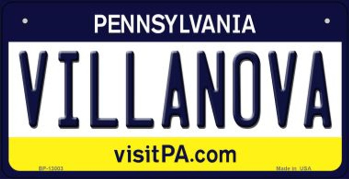 Villanova Novelty Metal Bicycle Plate BP-13003