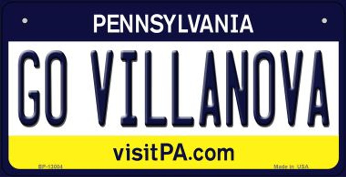 Go Villanova Novelty Metal Bicycle Plate BP-13004