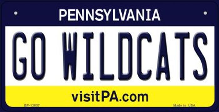 Go Wildcats Novelty Metal Bicycle Plate BP-13007