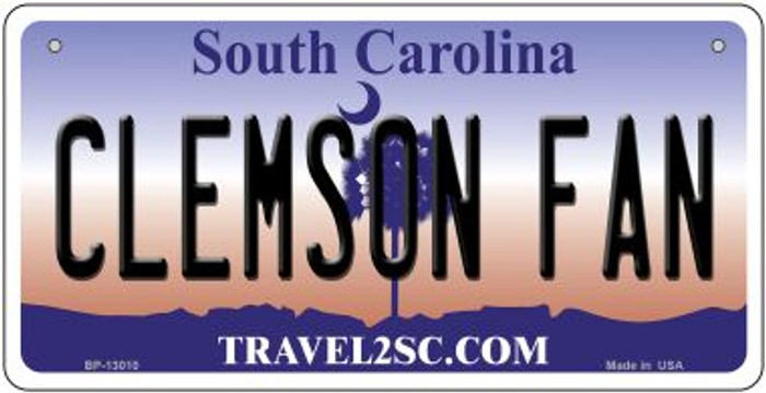 Clemson Fan Novelty Metal Bicycle Plate BP-13010