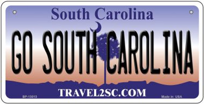 Go South Carolina Novelty Metal Bicycle Plate BP-13013