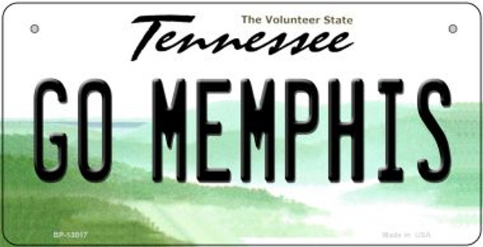 Go Memphis Novelty Metal Bicycle Plate BP-13017
