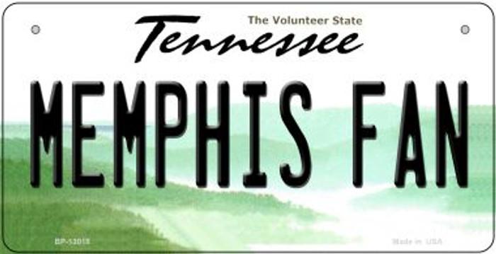 Memphis Fan Novelty Metal Bicycle Plate BP-13018