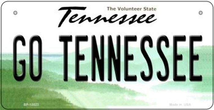 Go Tennessee Novelty Metal Bicycle Plate BP-13023