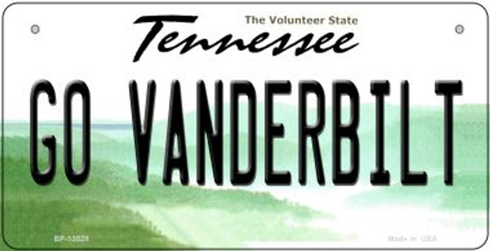 Go Vanderbilt Novelty Metal Bicycle Plate BP-13028