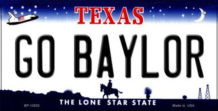 Go Baylor Novelty Metal Bicycle Plate BP-13033