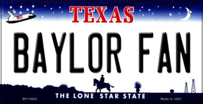 Baylor Fan Novelty Metal Bicycle Plate BP-13034