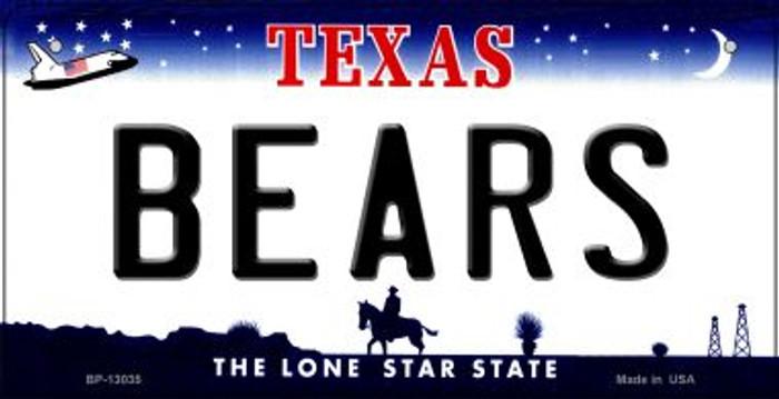 Bears Novelty Metal Bicycle Plate BP-13035