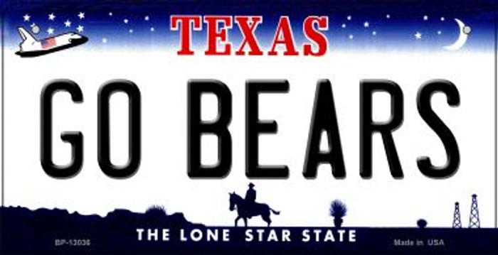 Go Bears Novelty Metal Bicycle Plate BP-13036