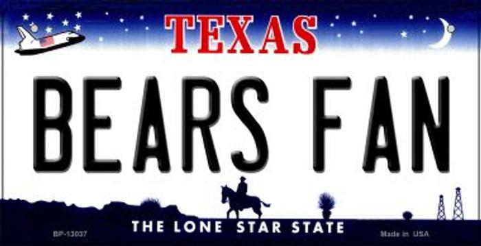 Bears Fan Novelty Metal Bicycle Plate BP-13037