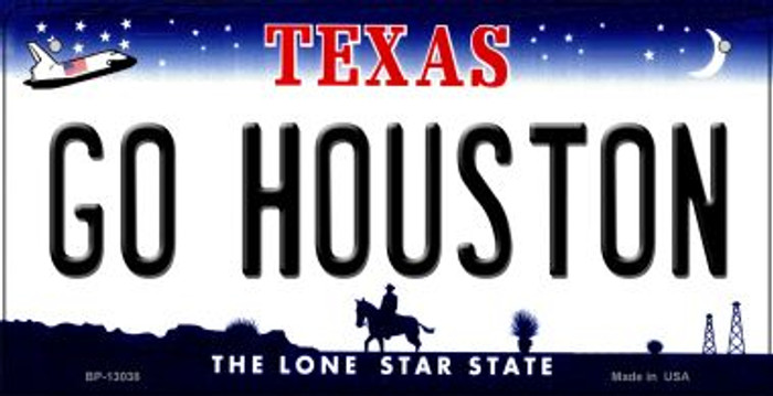 Go Houston Novelty Metal Bicycle Plate BP-13038