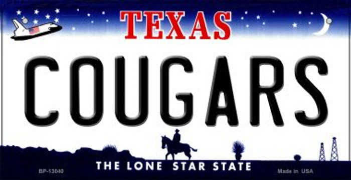Cougars Novelty Metal Bicycle Plate BP-13040