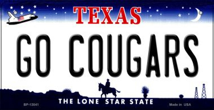 Go Cougars Novelty Metal Bicycle Plate BP-13041