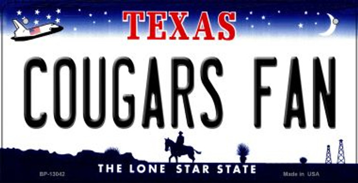 Cougars Fan Novelty Metal Bicycle Plate BP-13042