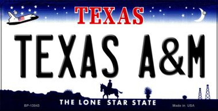 Texas A&M Novelty Metal Bicycle Plate BP-13043