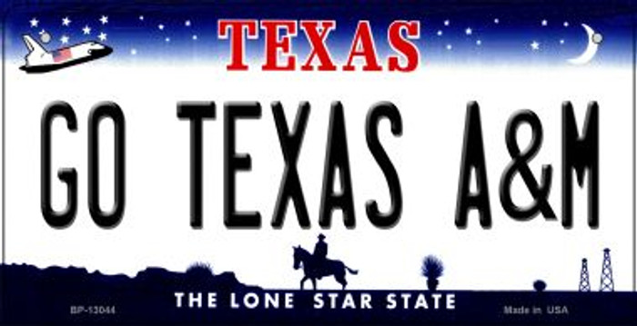 Go Texas A&M Novelty Metal Bicycle Plate BP-13044