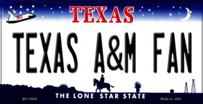 Texas A&M Fan Novelty Metal Bicycle Plate BP-13045