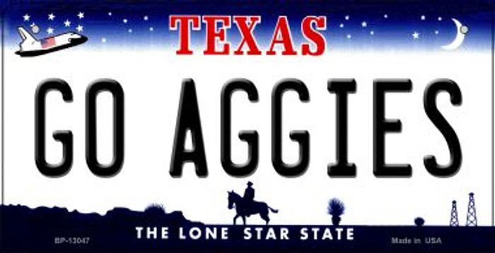 Go Aggies Novelty Metal Bicycle Plate BP-13047