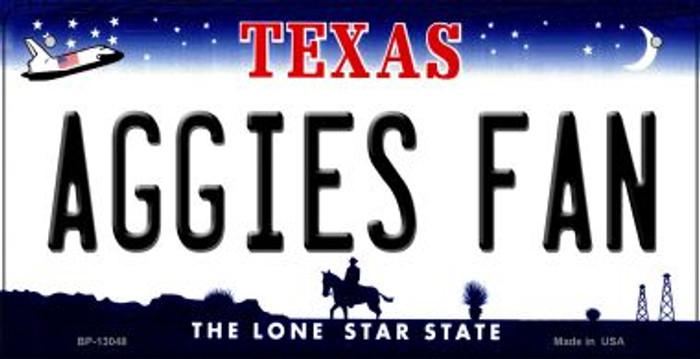 Aggies Fan Novelty Metal Bicycle Plate BP-13048