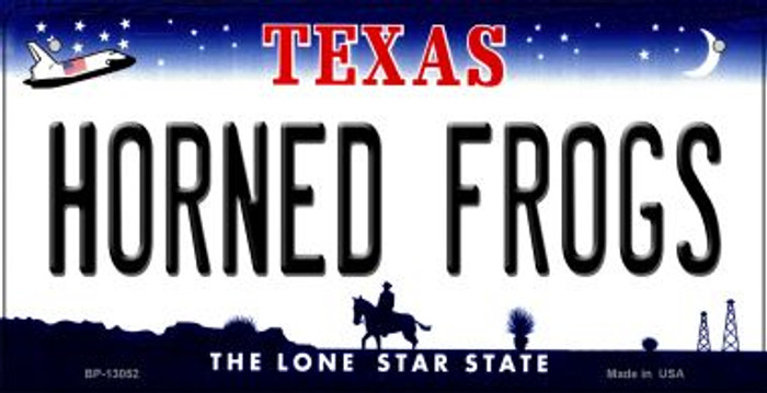 Horned Frogs Novelty Metal Bicycle Plate BP-13052