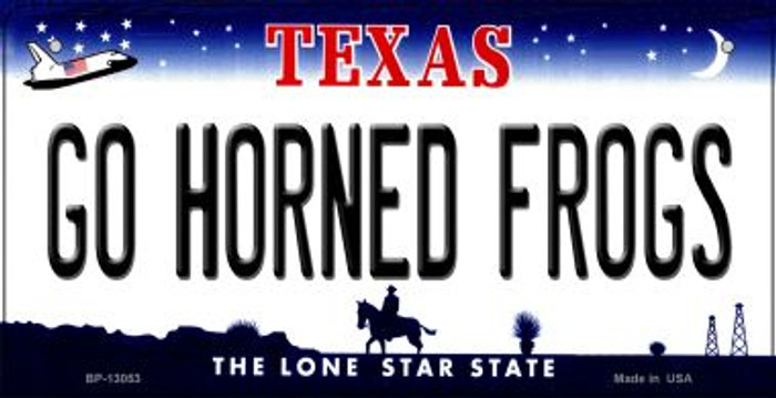 Go Horned Frogs Novelty Metal Bicycle Plate BP-13053