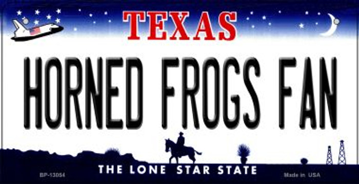Horned Frogs Fan Novelty Metal Bicycle Plate BP-13054