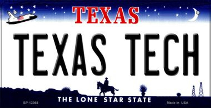 Texas Tech Novelty Metal Bicycle Plate BP-13055