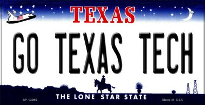 Go Texas Tech Novelty Metal Bicycle Plate BP-13056