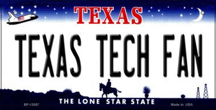 Texas Tech Fan Novelty Metal Bicycle Plate BP-13057