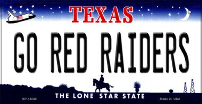 Go Red Raiders Novelty Metal Bicycle Plate BP-13059