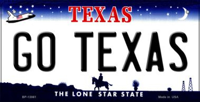 Go Texas Novelty Metal Bicycle Plate BP-13061