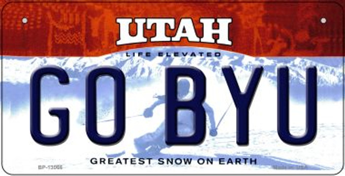 Go BYU Novelty Metal Bicycle Plate BP-13066