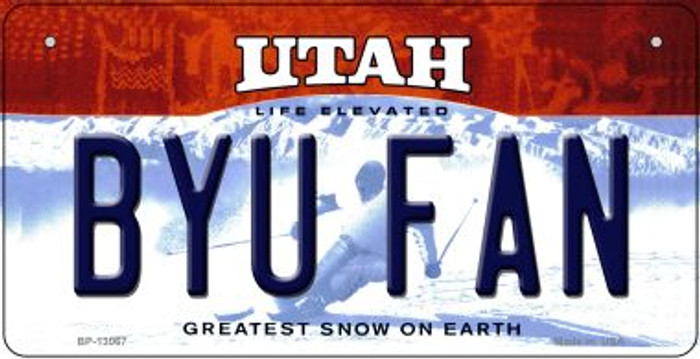 BYU Fan Novelty Metal Bicycle Plate BP-13067
