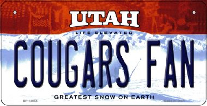 Cougars Fan Novelty Metal Bicycle Plate BP-13068