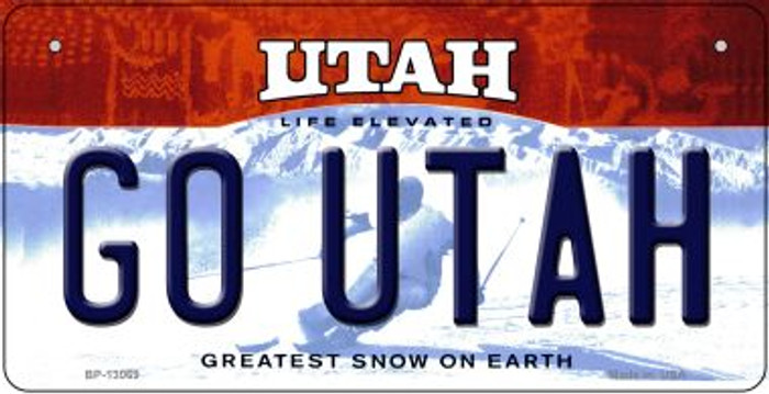 Go Utah Novelty Metal Bicycle Plate BP-13069