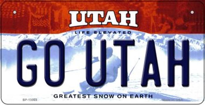Go Utah Novelty Metal Bicycle Plate BP-13069