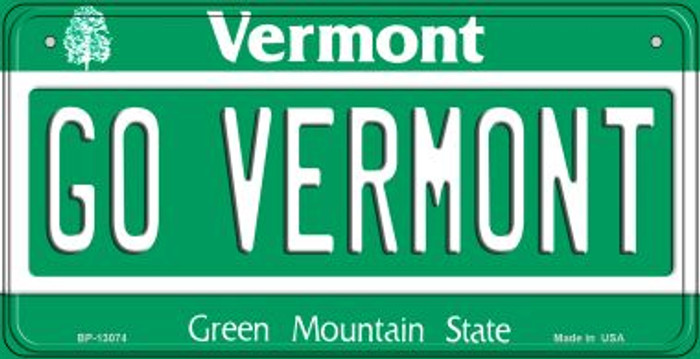 Go Vermont Novelty Metal Bicycle Plate BP-13074