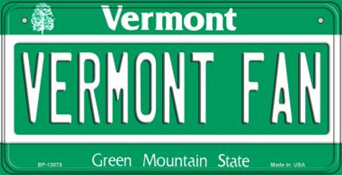 Vermont Fan Novelty Metal Bicycle Plate BP-13075