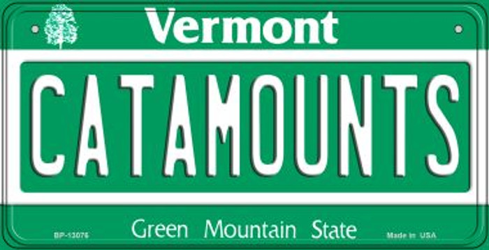 Catamounts Novelty Metal Bicycle Plate BP-13076
