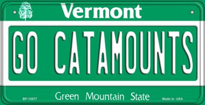 Go Catamounts Novelty Metal Bicycle Plate BP-13077