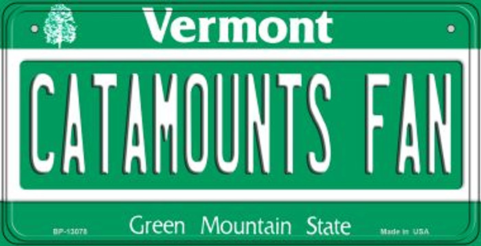 Catamounts Fan Novelty Metal Bicycle Plate BP-13078