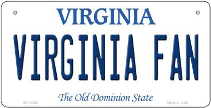 Virginia Fan Novelty Metal Bicycle Plate BP-13080