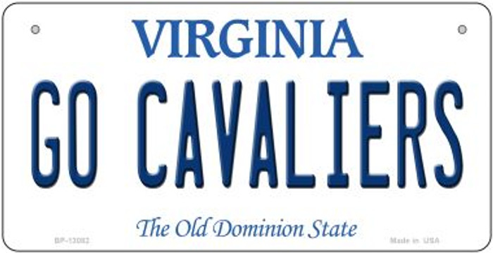 Go Cavaliers Novelty Metal Bicycle Plate BP-13082
